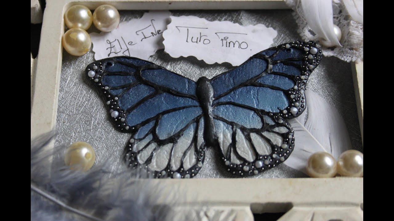 Tuto fimo collier papillon polymer clay tutorial for Tutorial papillon