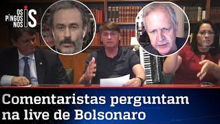 EXCLUSIVO: Entrevista durante a live de Jair Bolsonaro de 30/07/20