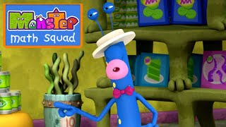 Monster Math Squad | FULL EPISODE | Picky Eater's Picnic | Learning Numbers Series