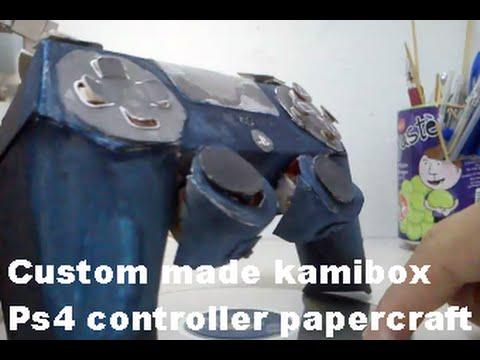 Custom made kamibox PS4 controller papercraft