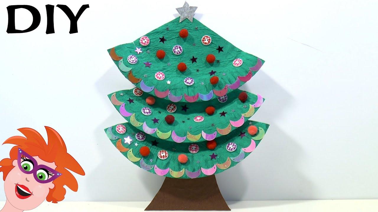 Kerstboom Knutselen Van Papieren Bordje Youtube