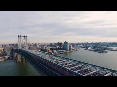 Flight School - Drone over the Williamsburg Bridge