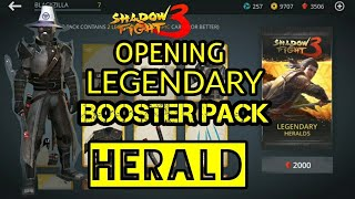 Shadow Fight 3 OPENING LEGENDARY BOOSTER PACK | HERALD