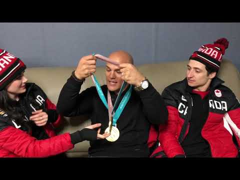 Tessa Virtue and Scott Moir Celebrate Gold with Coy Wire