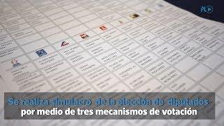 Realizan simulacro para elección de diputados al Congreso | Prensa Libre