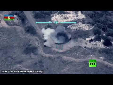 وزارة دفاع آذربيجان تنشر فيديو يظهر لحظة ضربة على مواقع الجيش الأرمني