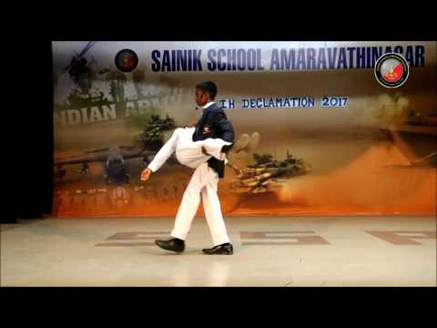 SAINIK SCHOOL AMARAVATHINAGAR IH DECLAMTION CHOLA