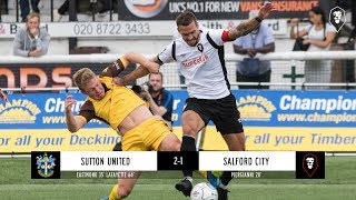 Sutton United 2-1 Salford City - National League 11/08