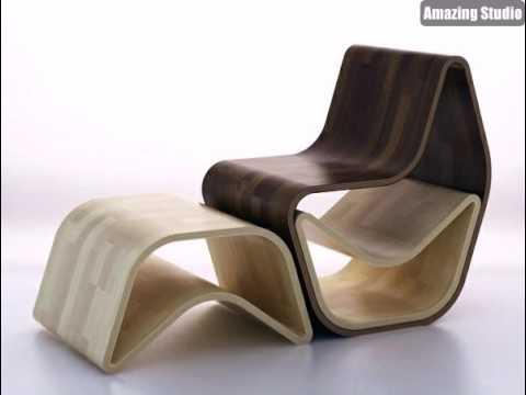 Holz Stuhl Moderne Möbel Design - YouTube