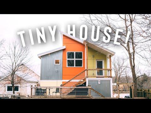 TINY HOUSE LOFT AIRBNB TOUR!   Eye Catching Studio Loft!
