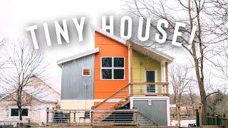 Tiny House Loft Airbnb Tour! | Eye Catching Studio Loft!