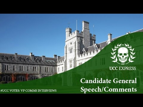 #UCCVotes Candidate Interviews 2017: Comms Officer - General Speeches