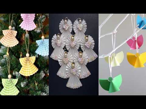 Diy : Christmas Ornaments making with paper | ornaments craft ideas | paper ornaments