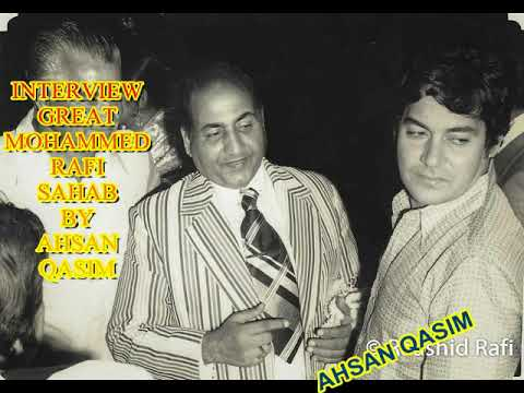 GREAT MOHAMMED RAFI SAHAB [ INTERVIEW 1979 BBC LONDON ] WITH BW RARE PICTURES