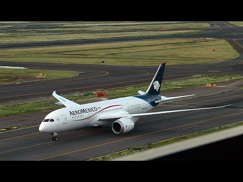 AeroMexico Boeing 787 Dreamliner Aterrizaje Aeropuerto de