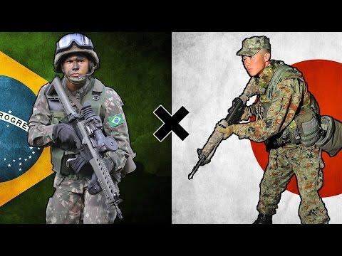 Brasil x Japão - Comparação Militar