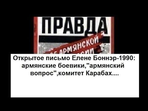 Письма Елене Боннэр-1990:армянские боевики,