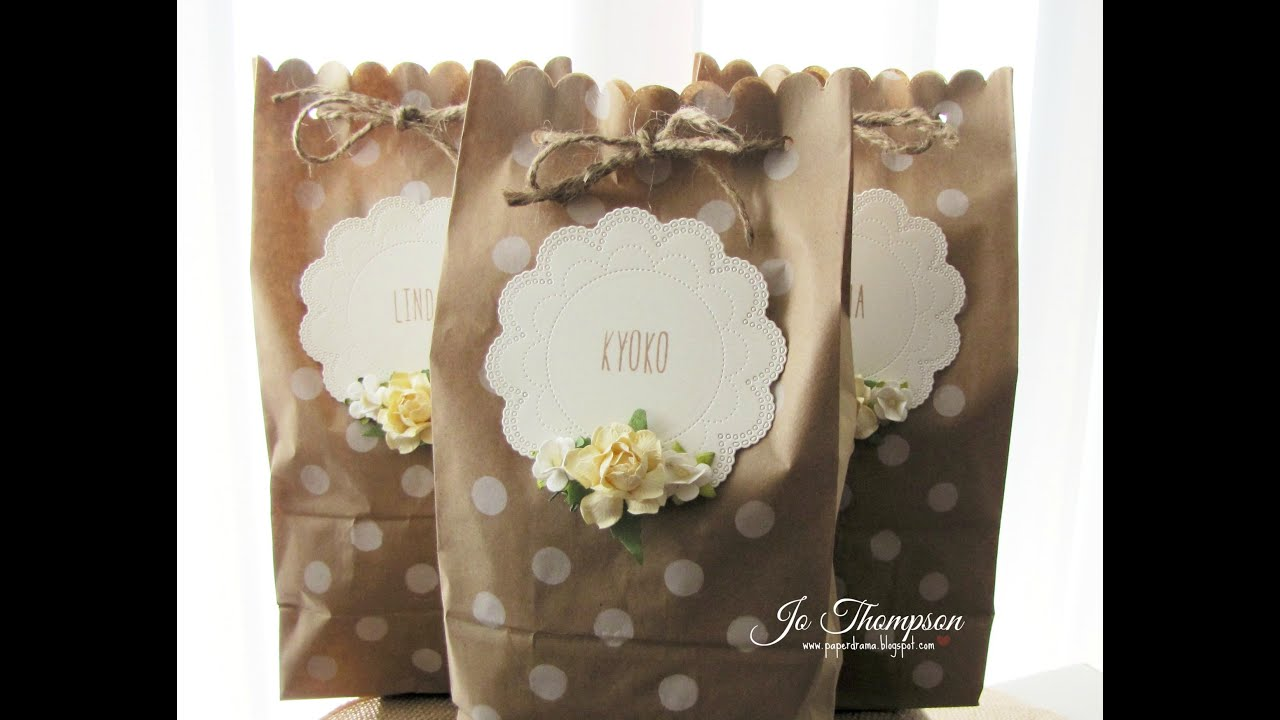 decorated paper bag tutorial youtube
