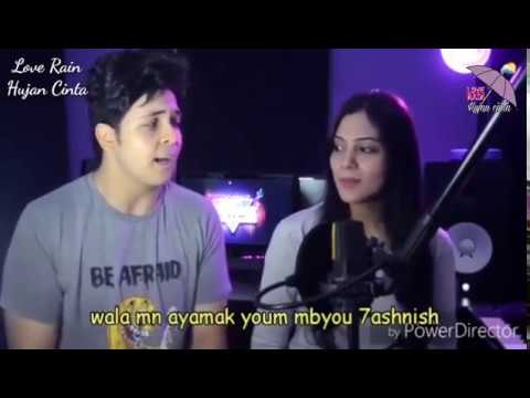 LAGU ARAB ROMANTIS COVER + LIRIK Qorib Mini Swaya - قرب منى شويه