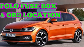 2018 vw polo fuse box location and obd port location vw volkswagen - youtube  youtube