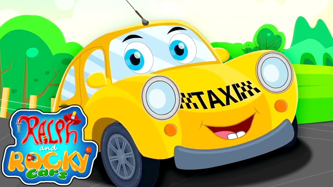 Taxi Song | Cars Song | Nursery Rhymes and Kids Songs |  Cartoon Videos with Ralph and Rocky