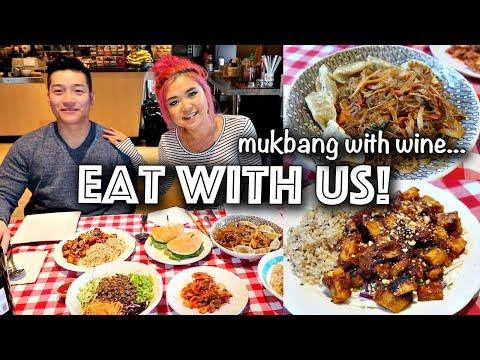 Vegan Korean Food FEAST MUKBANG // ENTIRE main menu from my CAFE! (vegan eating show)