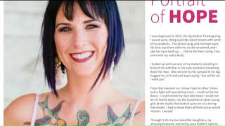 ACS Portrait of Hope ambassador challenges women to examine themselves for breast cancer