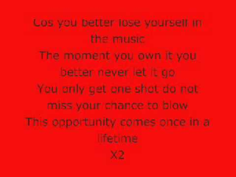Download Musica Lose Yourself Lyrics Clean Version and ...