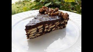 Ëmbëlsirë me Biskota dhe Arra ( Nuts and Almond Cake Easy Recipe )