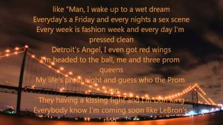 Big Sean So Much More - Lyrics on screen
