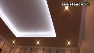 Подвесной потолок с LED подсветкой своими руками(Этот потолок я сделал у себя в квартире сам ПОДПИШИТЕСЬ НА КАНАЛ / ПОСТАВЬТЕ ЛАЙК - https://www.youtube.com/user/assistanceTV..., 2013-10-22T09:56:30.000Z)