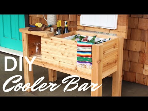Portable Deck Cooler Bar And Stand