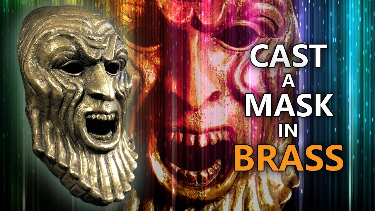 How to COLD CAST a REALISTIC brass mask! [A resin casting tutorial]