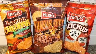 Herr's: Kansas City Prime Steak, Ketchup and Bacon Cheddar Jalapeno Potato Chip Review