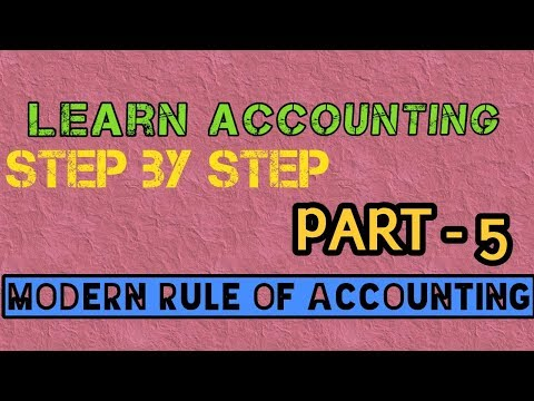 Modern Rules of Accounting