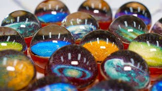Amazingly beautiful! Homemade Planet Candy (Lollipops)/ Food Factory