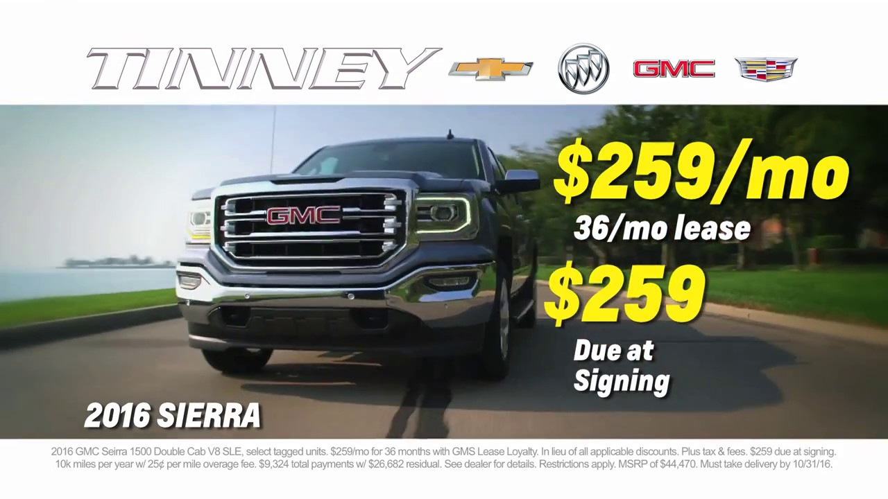 Truck Lease Deals >> Truck Month Current Offers Lease Deals And Specials On 2016 Gmc Sierra