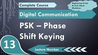 Phase Shift Keying PSK (definition, waveform, Bandwidth, Multi level PSK, Modulation & Demod)