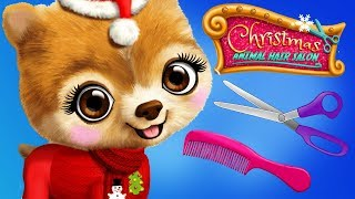 Fun Pet Animal Care Games - Christmas Animal Hair Salon Santa Makeover Dress Up Kids App