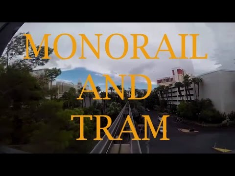 Las Vegas 2015 Tram and Monorail Ride From Treasure Island to Paris Station