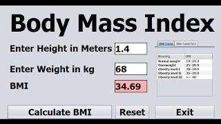 How to Create BMI Calculator in Java Net Beans