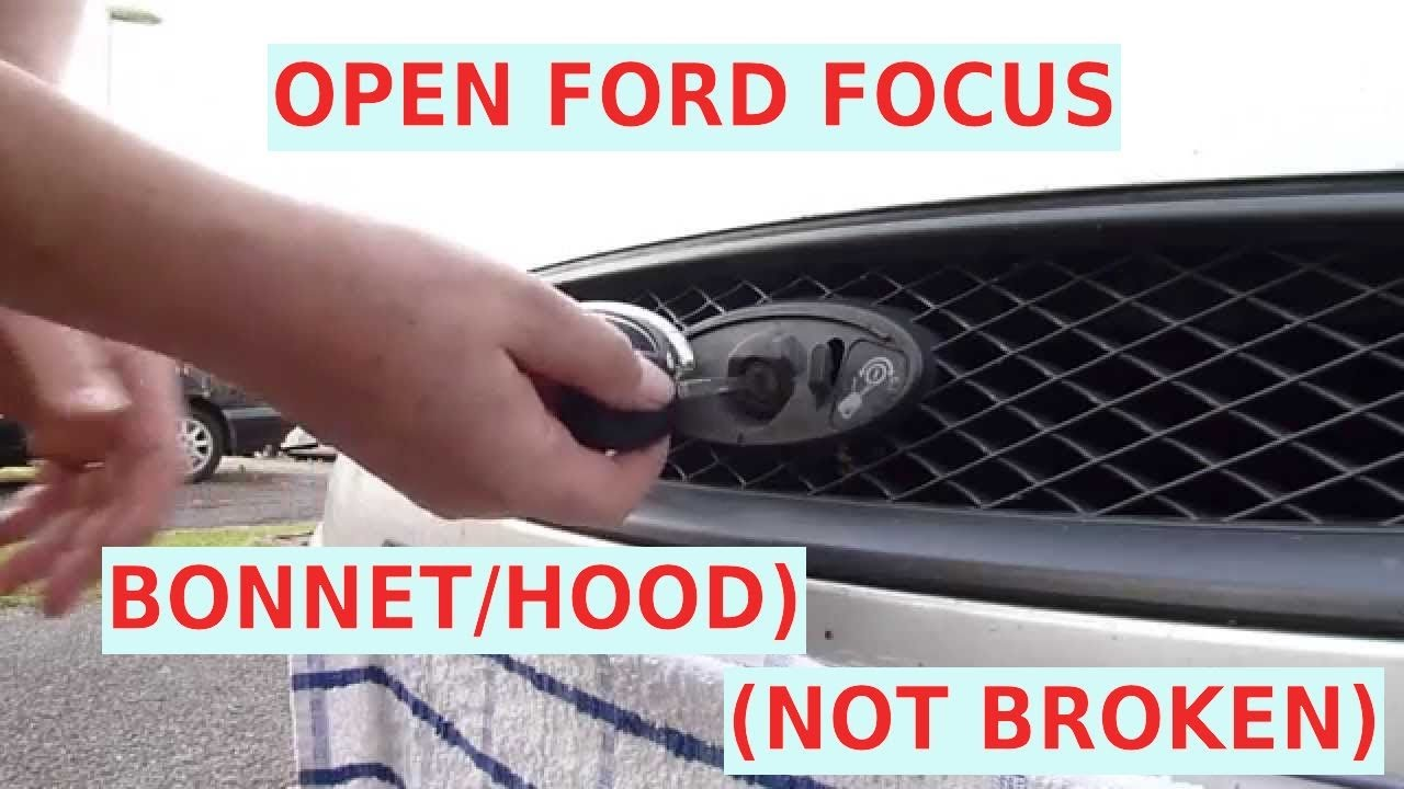 How to Open Ford Focus Bonnet/Hood Mk1,Mk2  Ford Mondeo  Years 2001 to 2006