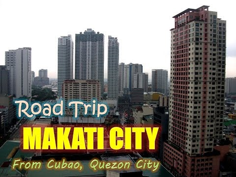 TRAVELLING AS IT IS! Road Trip from Cubao Quezon City to Makati City