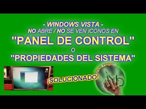 """SOLUCIÓN: """"No se abre panel de control"""" o """"No ejecuta propiedades del sistema"""" Windows Vista"""