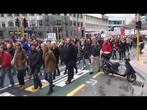 "Anti TPPA Protest Wellington 15th. August 2015  ""full walk pass"""