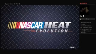 Playing NASCAR HEAT evolution with caleb LIVE
