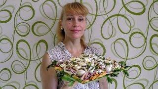 Картофельный салат с грибами и ветчиной вкусно и просто