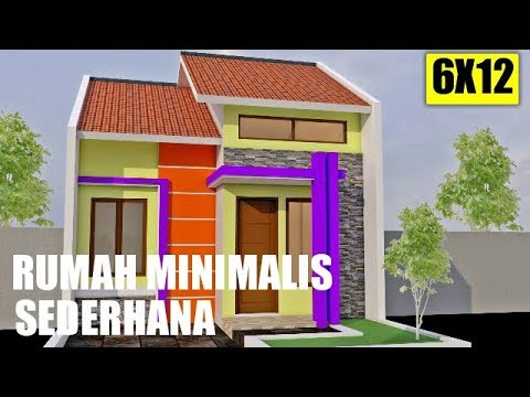 Contoh Model Rumah Minimalis Sederhana Type 36 Di Lahan 6x12