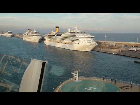 Harmony of the Seas: Barcelona, Spain Departure (with Norwegian Epic, Costa Favolosa & Fascinosa)