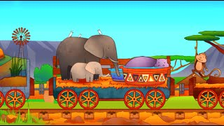 Паровозик для самых маленьких. Изучаем животных: Лев, Змея, Слон, Бегемот, Страус, Крокодил, Зебра.(Привет, дружок! Сегодня в развивающем мультфильме для самых маленьких паровозик отвезет зверей в увлекател..., 2015-11-08T08:00:00.000Z)